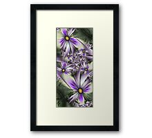 Flower touch Framed Print