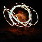 Fire Twirling, Mission Beach by jasondean