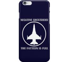 Negative ghostrider the pattern is full geek funny nerd iPhone Case/Skin