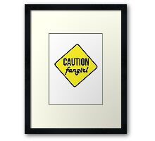 Caution Tshirt Framed Print