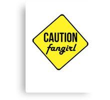 Caution Tshirt Canvas Print