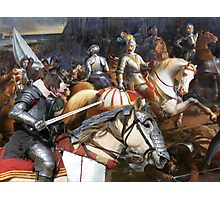 Bull Terrier Art - King's Knight in the battle Photographic Print