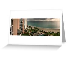 A View from my Balcony, Sunny Isles Beach Florida Greeting Card