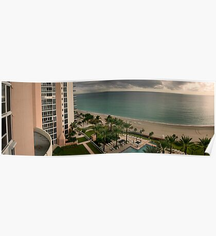 A View from my Balcony, Sunny Isles Beach Florida Poster