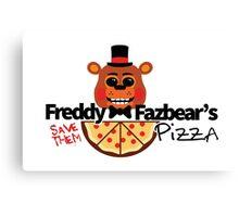 Modern Five Nights at Freddy's Logo (Possessed Version) Canvas Print