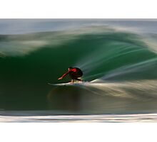 Surfing at Rincon Photographic Print