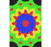 Modern kaleidoscope colorful pattern Photographic Print