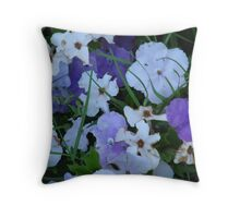 Purple & White-(Today & Tommorrow)-(Floral Macro) Throw Pillow