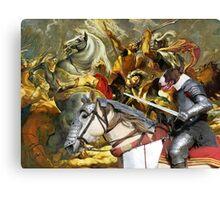 Bull Terrier Art - The final battle Canvas Print