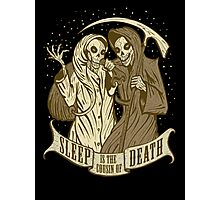 Sleep is the cousin of Death Photographic Print