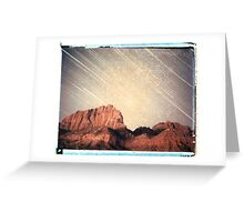 Star Trails in Zion Greeting Card