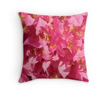 Autumn Pink Leaves-(Floral Texture) Throw Pillow