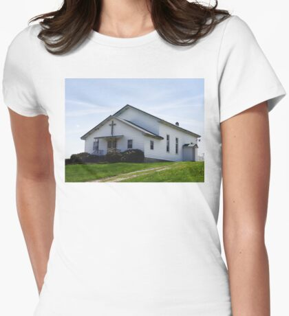 Perfect Church Setting Womens Fitted T-Shirt