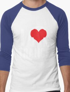 I Love Trance Music Men's Baseball ¾ T-Shirt