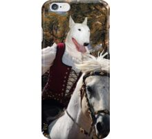 Bull Terrier Art - Salisbury Cathedral iPhone Case/Skin