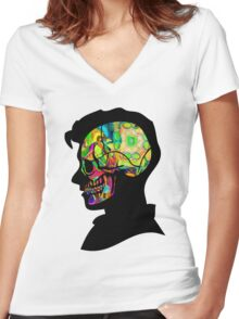 Alex Turner - Psychedelic Women's Fitted V-Neck T-Shirt