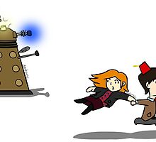 Doctor Who Dalek Chase Stickers by CtrlArtDlt