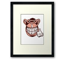 Lucky Monkey Framed Print