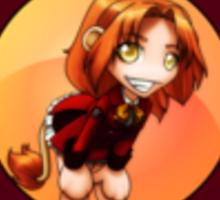 Chibi Schoolgirl Zodiac - Leo Sticker