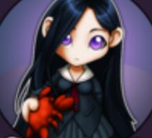 Chibi Schoolgirl Zodiac - Cancer Sticker