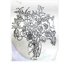Flowers In A Vase. Poster