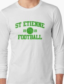St Etienne Football Athletic College Style 2 Gray Long Sleeve T-Shirt