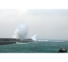 Alderney Breakwater Photographic Print