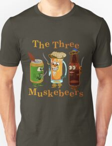 Funny Beer Pun Three Muskebeers T-Shirt