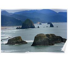 The Guardians - Ecola State Park, Oregon Poster