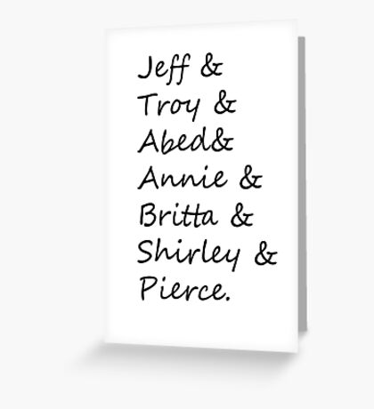 community: greendale human beings Greeting Card