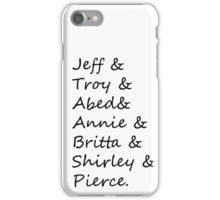 community: greendale human beings iPhone Case/Skin