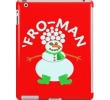 Funny 'Fro Snowman Christmas iPad Case/Skin