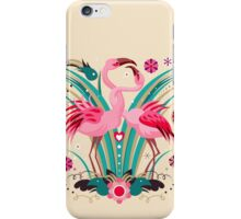 LOVE & FLAMINGO  iPhone Case/Skin