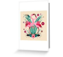 LOVE & FLAMINGO  Greeting Card