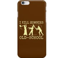 Funny Retro Old School Zombie Killer Hunter iPhone Case/Skin