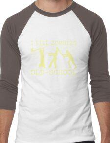 Funny Retro Old School Zombie Killer Hunter Men's Baseball ¾ T-Shirt