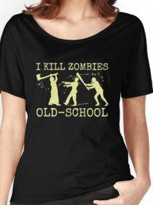 Funny Retro Old School Zombie Killer Hunter Women's Relaxed Fit T-Shirt
