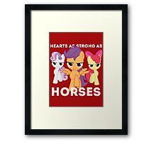 Hearts as strong as horses - CMC Framed Print