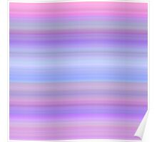 Violet-Rose-Grey Stripes Poster