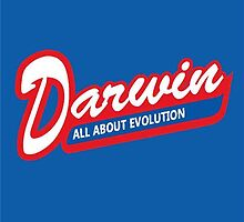 Darwin: All About Evolution anti-religion shirt by Blair McVicar