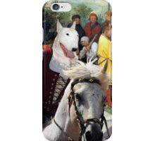 Bull Terrier Art - The road for Babel iPhone Case/Skin