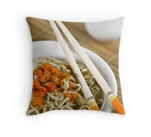 Soup in the bowl Throw Pillow