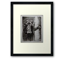 tribute to jacko Framed Print