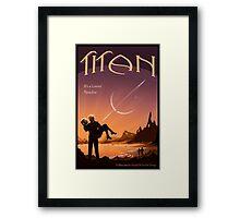 Titan Travel Poster Framed Print