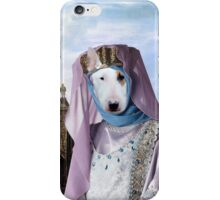 Bull Terrier Art - Renaissance Palace with young Princess iPhone Case/Skin