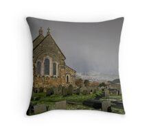 Llan Ffestiniog church Throw Pillow
