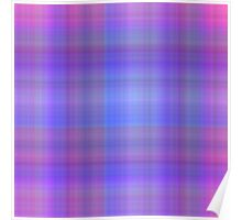 Rose-Grey-Blue Plaid Poster