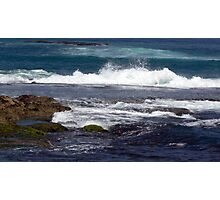 Waves VS  Rock formations Photographic Print