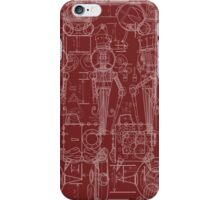 Mechtorian Plans ( Deep Red Version ) iPhone Case/Skin