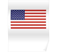 American Flag, Stars & Stripes, Pure & simple, United States of America, USA Poster